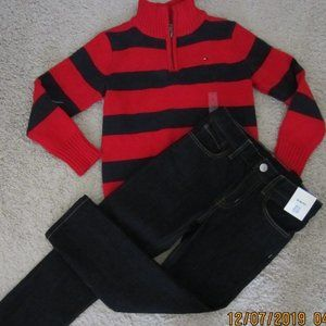 New Tommy Hilfiger Knitted Sweater & H.M Jeans